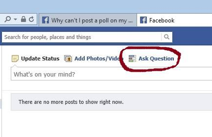 "Facebook ""Ask a Question"" Polling Feature Gone"