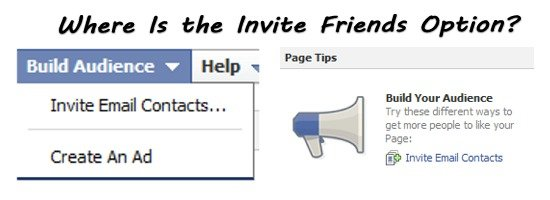 "Facebook Business Page:  ""Invite Friends"" Unavailable"