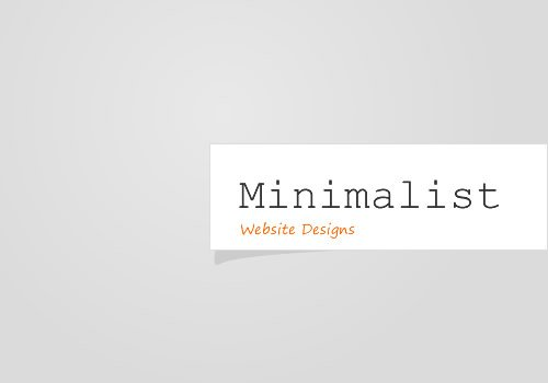 Minimalist website design seo creating sites for people for Minimalist homepage