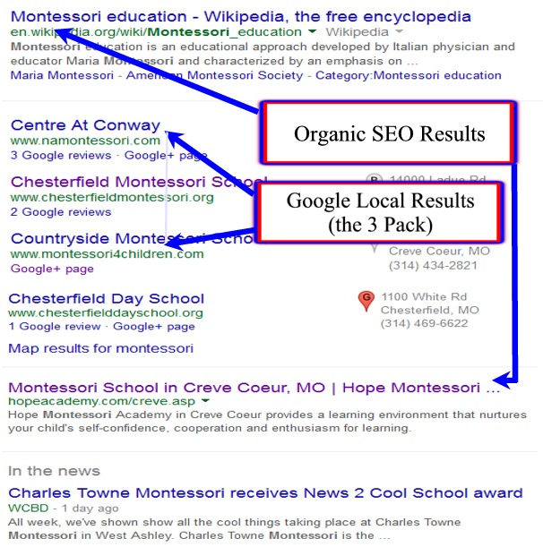 google-local-places-vs-organic-results