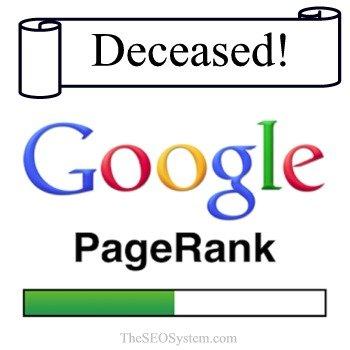 Google PagRank Dead