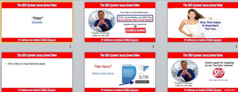 video template slides