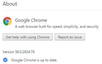 Google Chrome Version 56.X