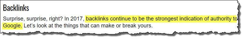 backlinks-biggest-factor-quote