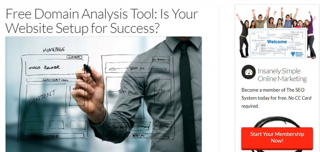 google analytics page to analyze