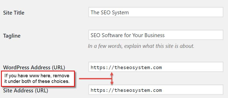 wordpress-site-address-www-or-not